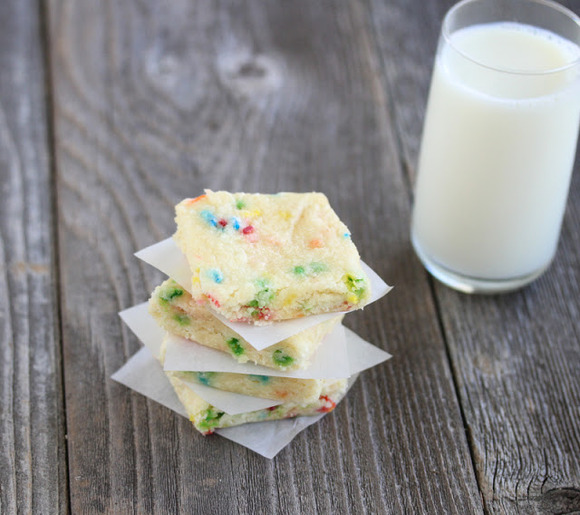 Funfetti Cake Mix Brownies